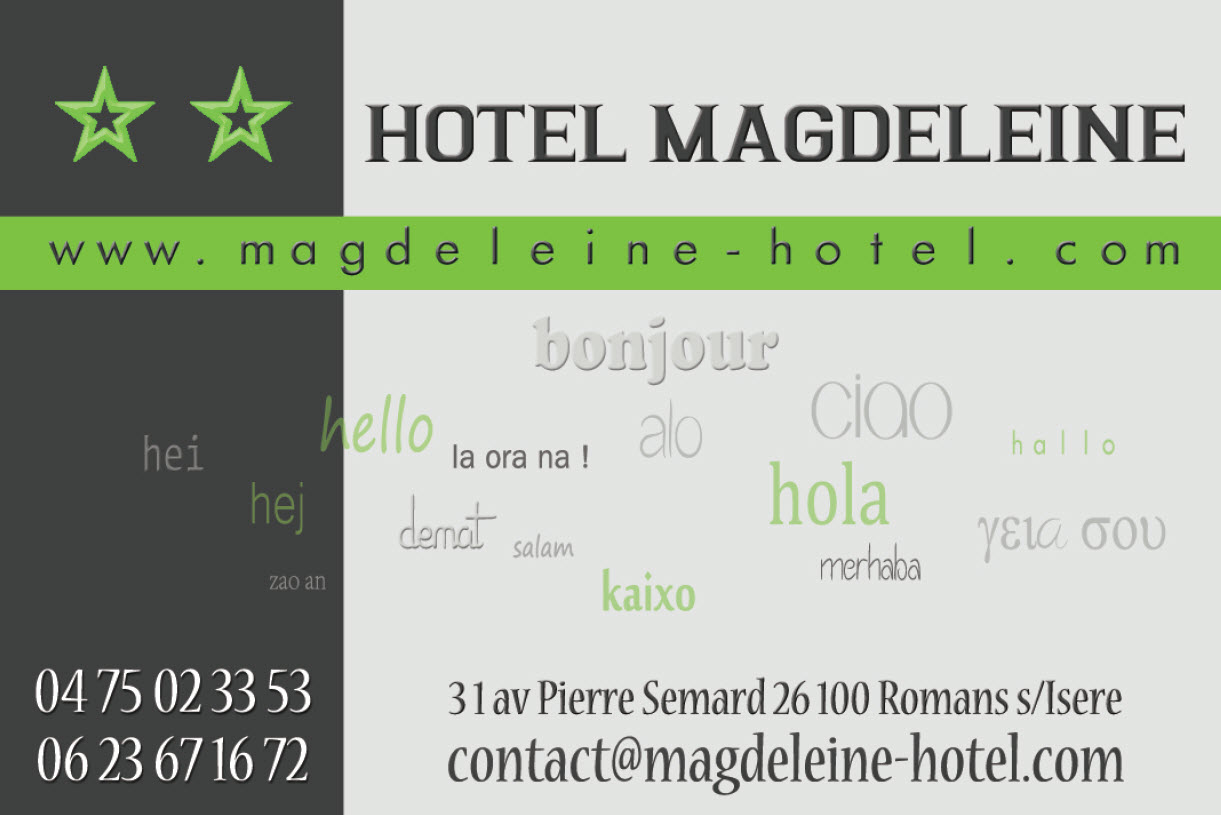 Contact h tel magdeleine romans dr me bourg de p age for Contact hotel